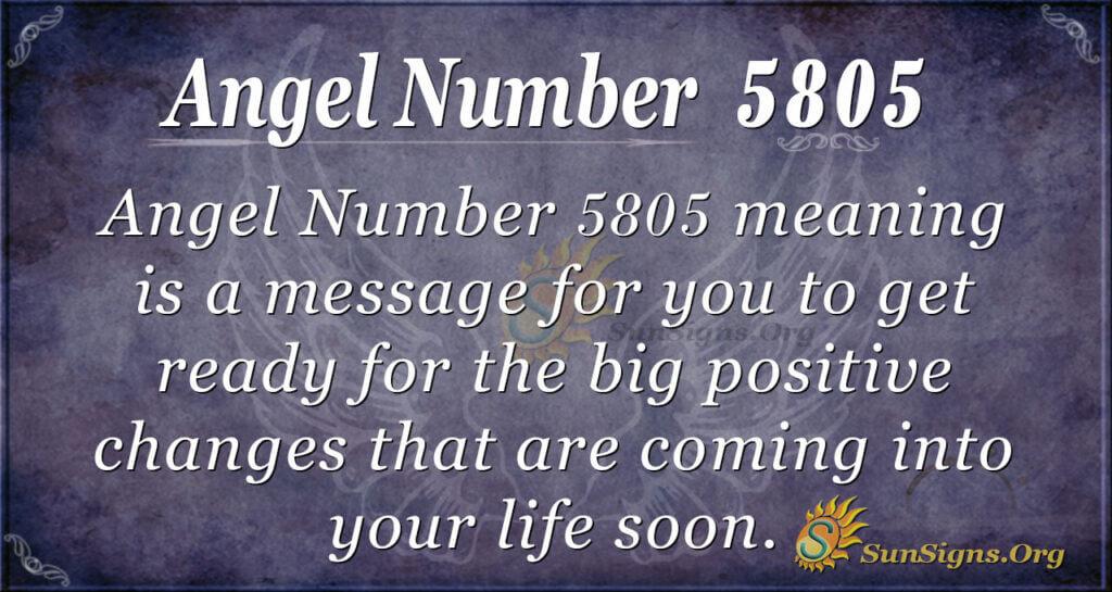 Angel Number 5805
