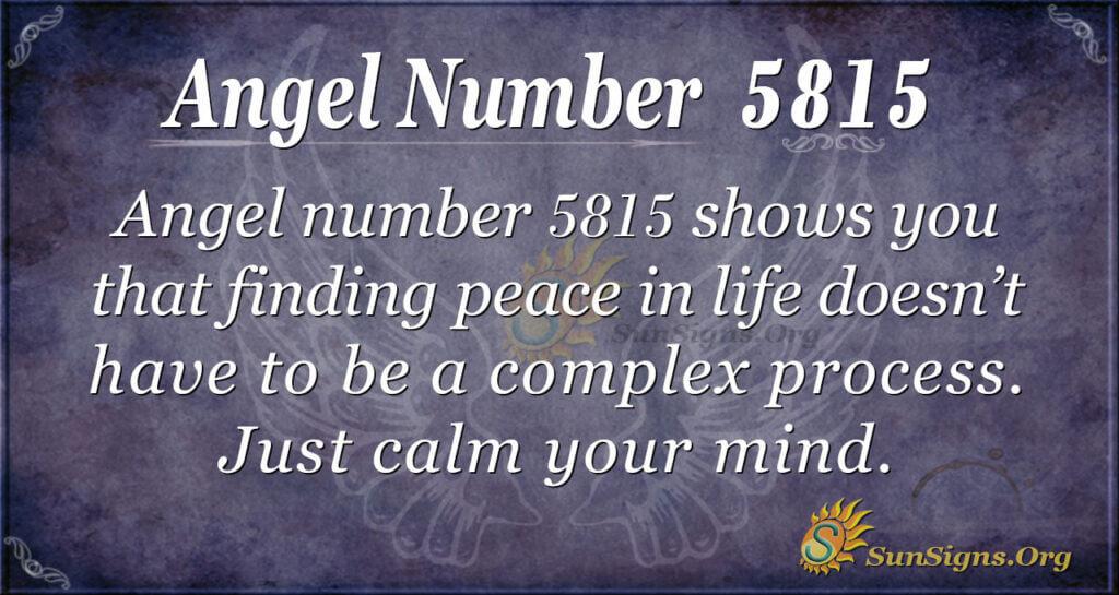 Angel number 5815