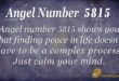 Angel number 5815