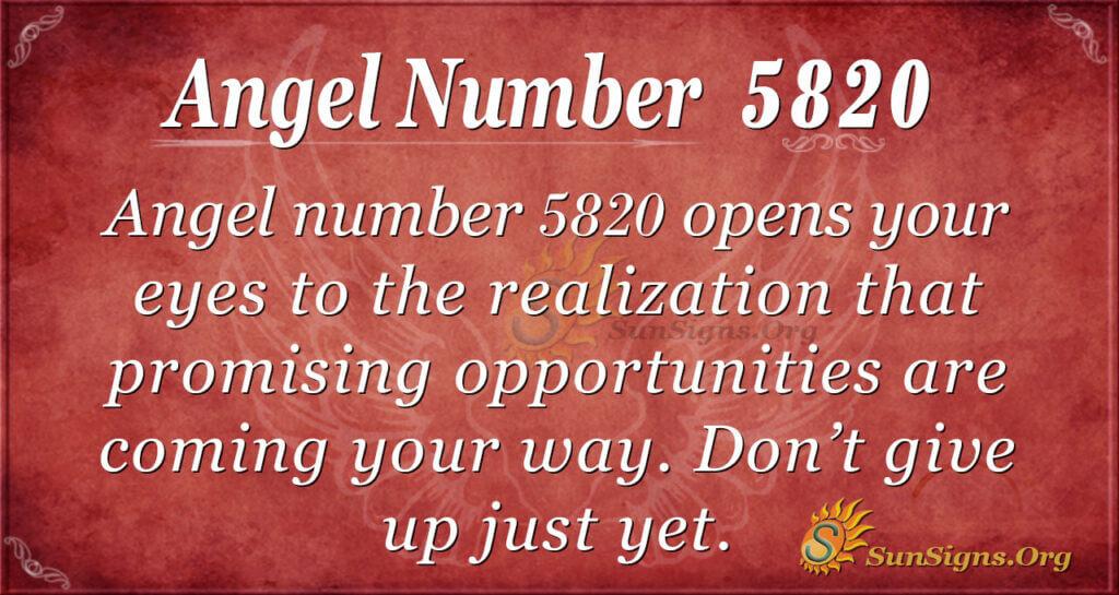 5820 angel number