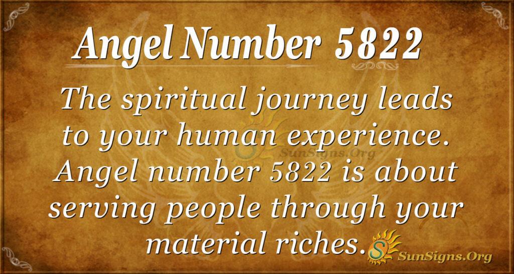 Angel number 5822