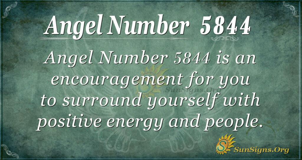 Angel Number 5844