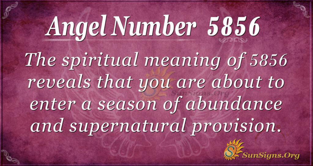 Angel number 5856