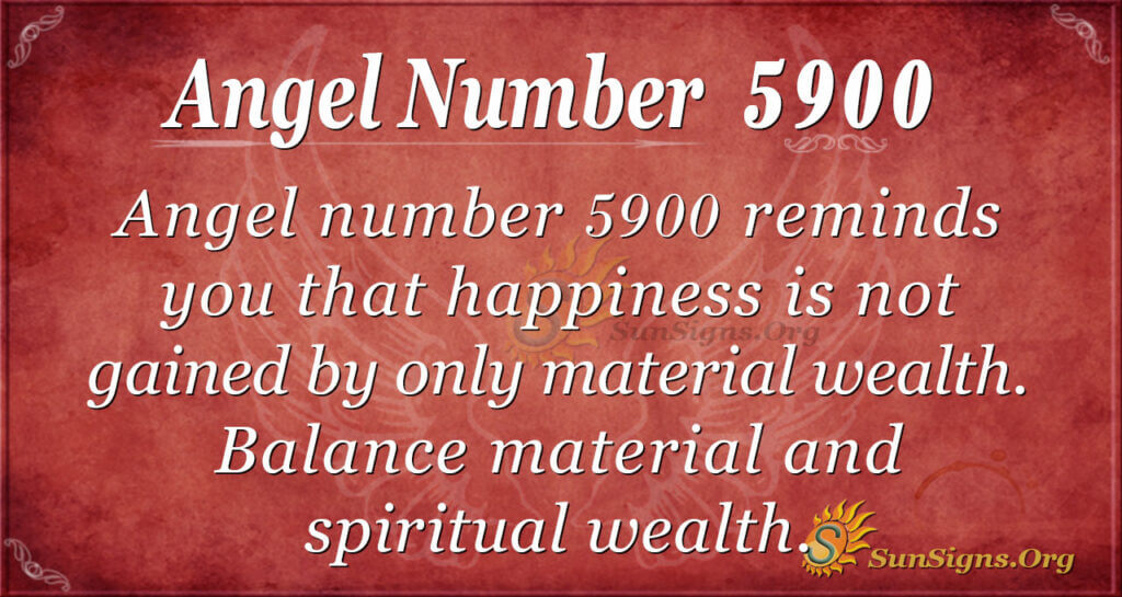 Angel number 5900