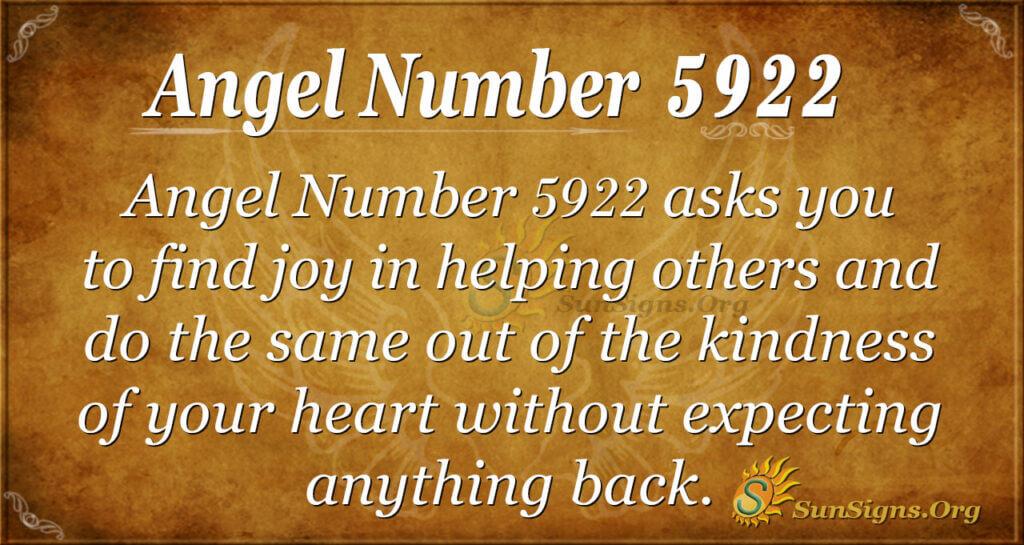 Angel Number 5922