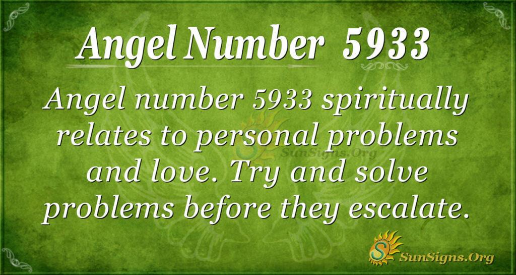 Angel number 5933