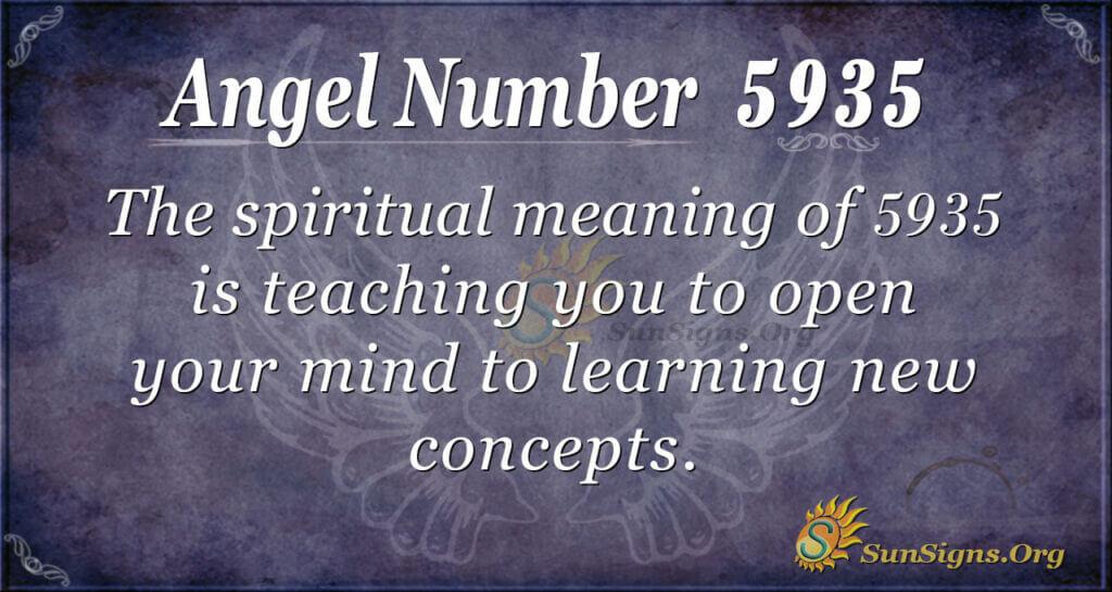 Angel number 5935