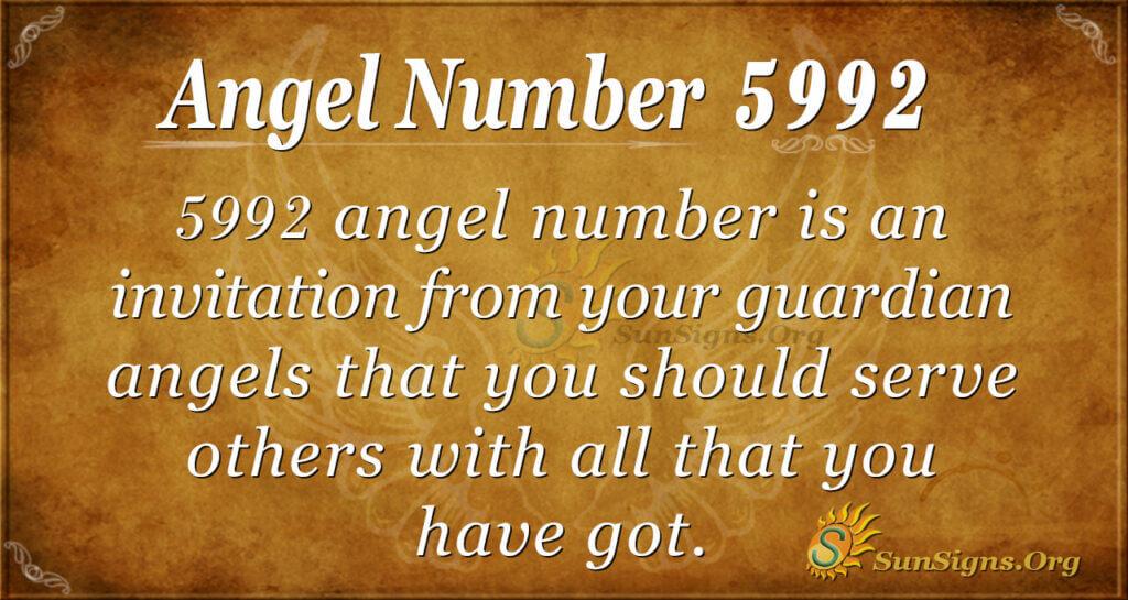 Angel Number 5992