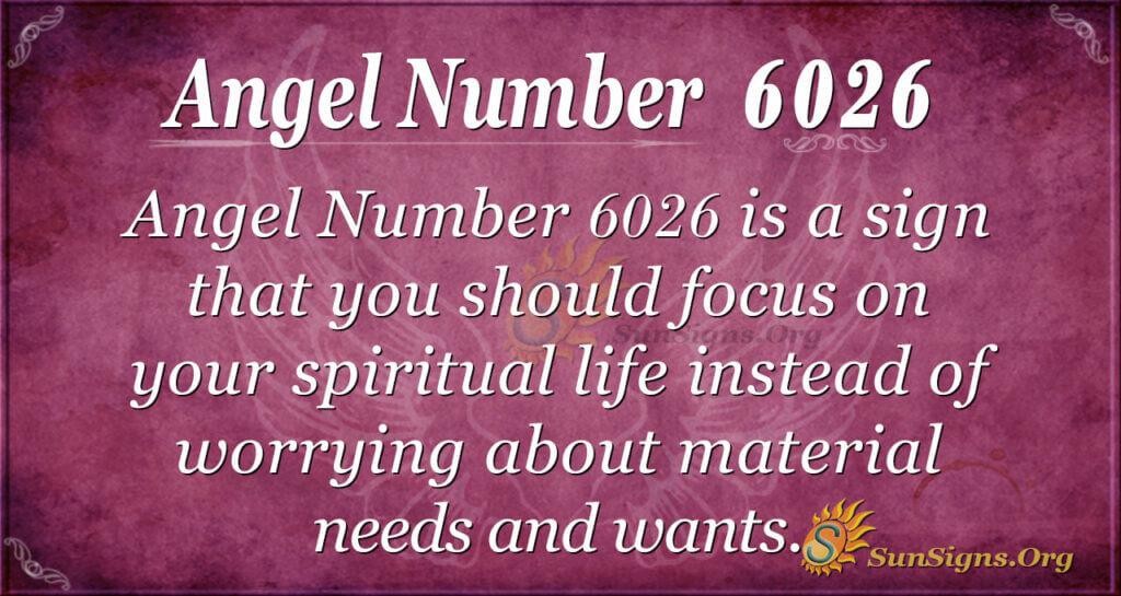 Angel Number6026