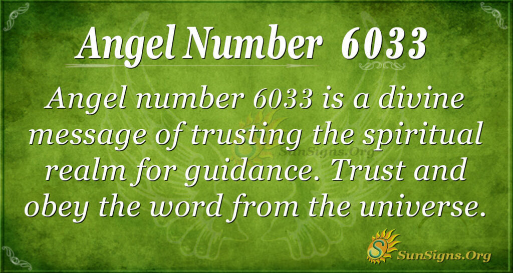 Angel number 6033