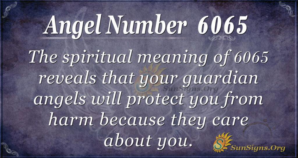 Angel Number 6065