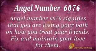 Angel number 6076
