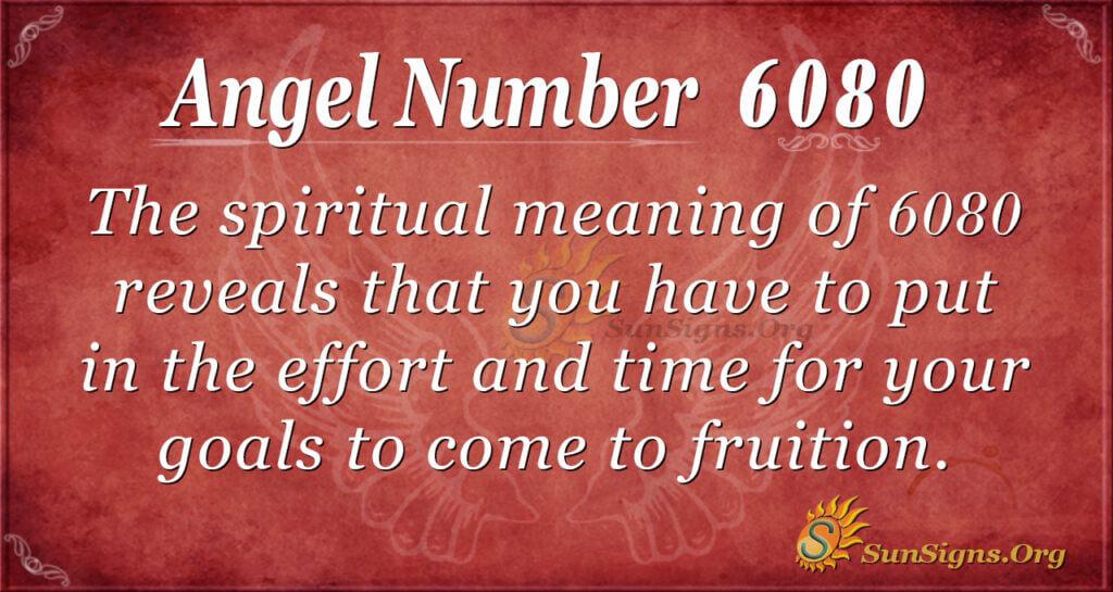 Angel number 6080