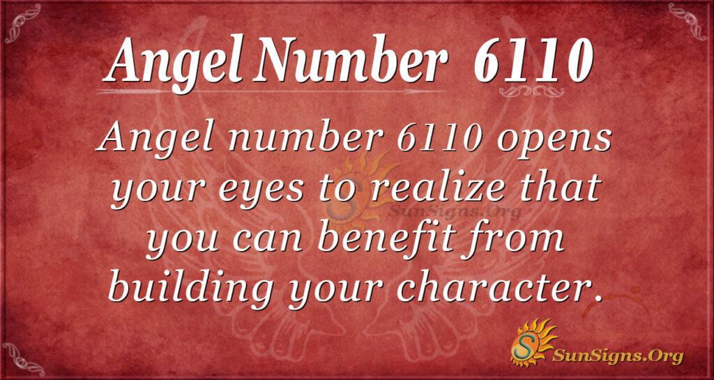 Angel Number 6110