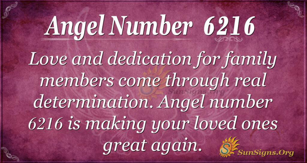 Angel number 6216