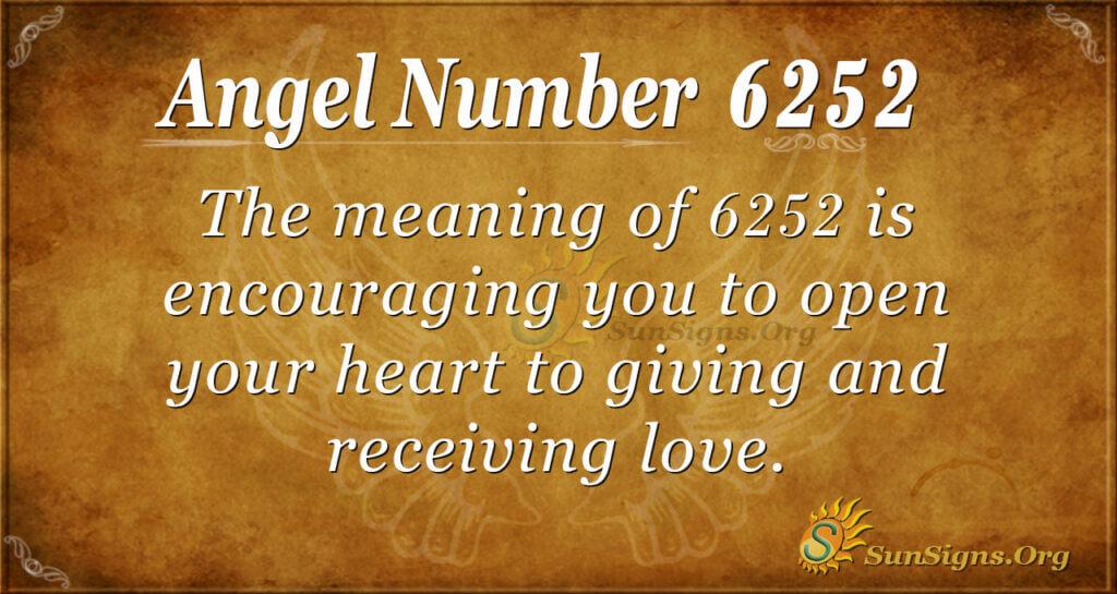 Angel Number 6252