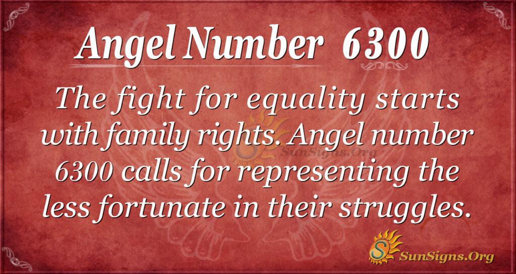 Angel number 6300