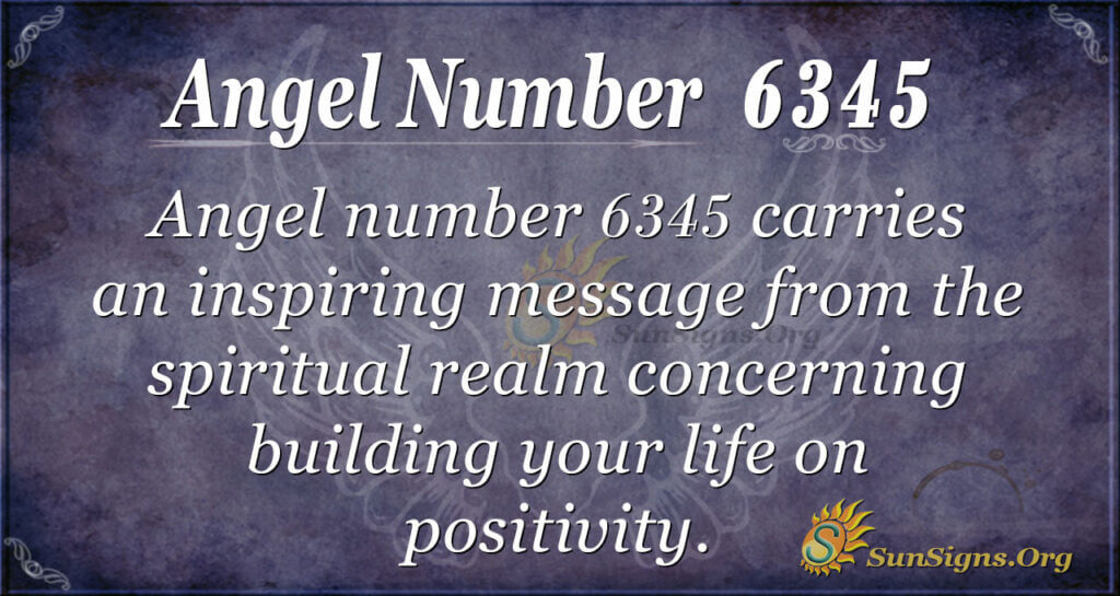 Angel Number 6345