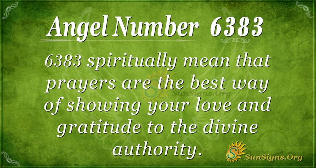 Angel Number 6383