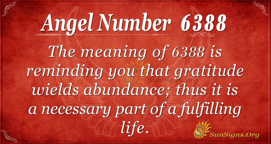 Angel number 6388