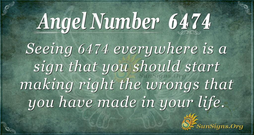 Angel number 6474