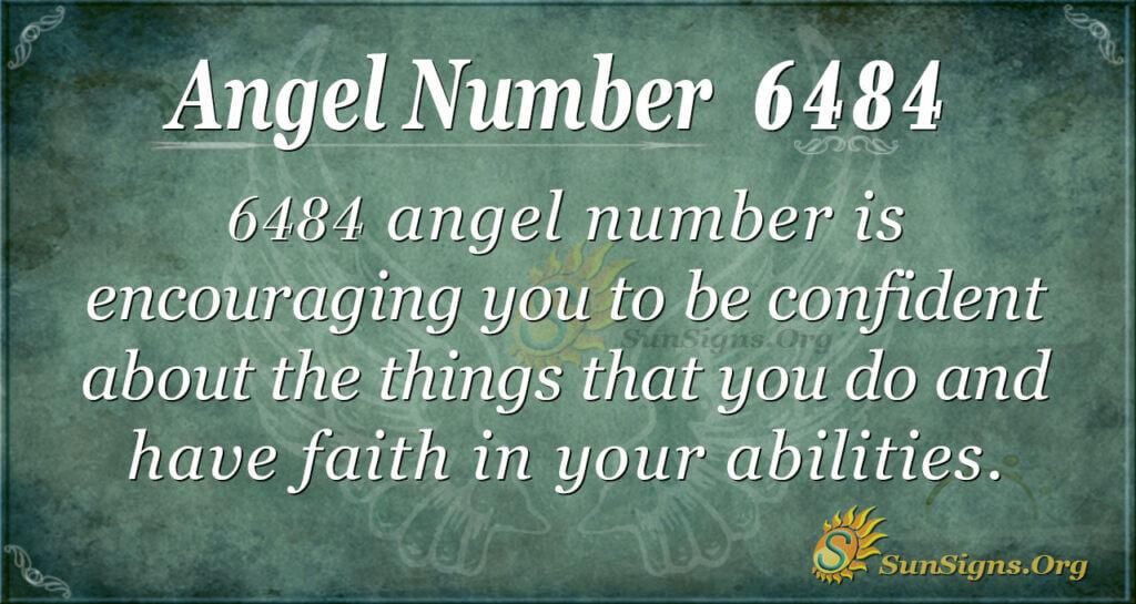 Angel Number 6484