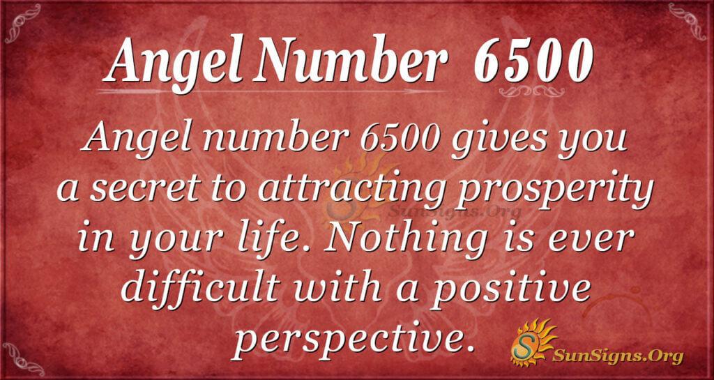 6500 angel number