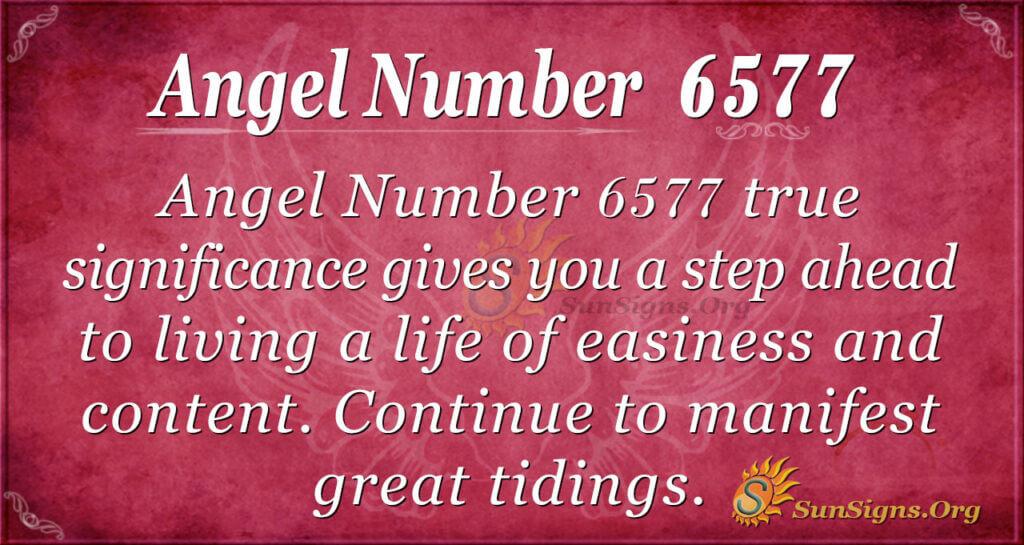 Angel number 6577