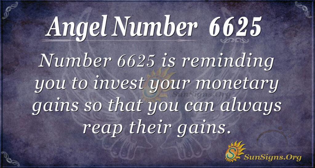 Angel number 6625