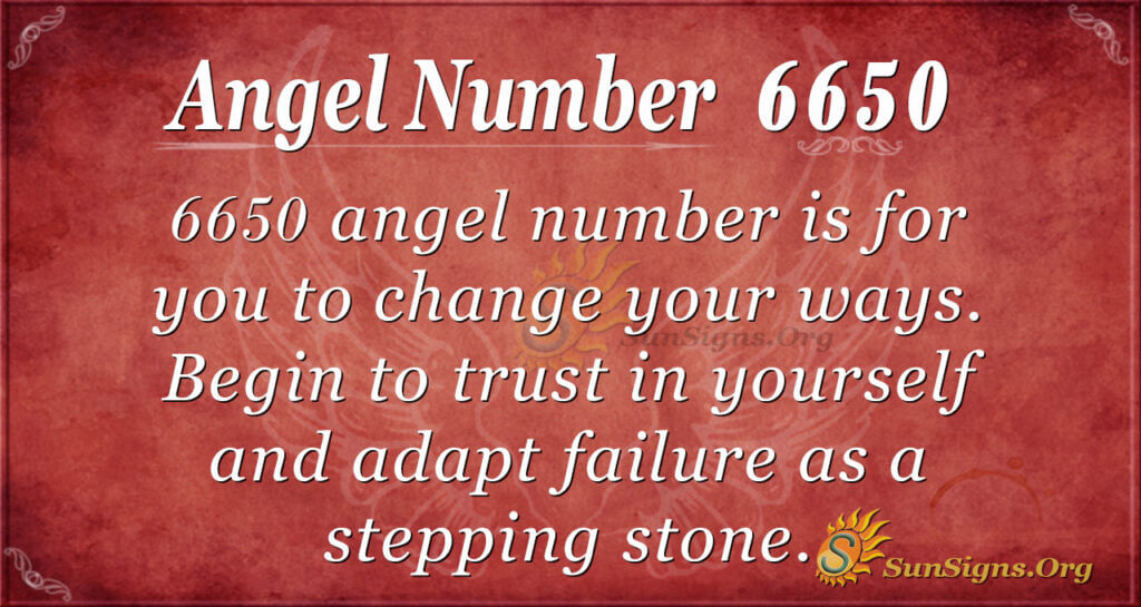 Angel number 6650
