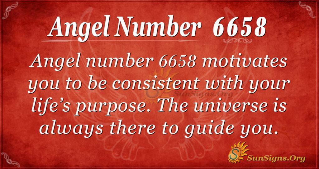 Angel Number 6658