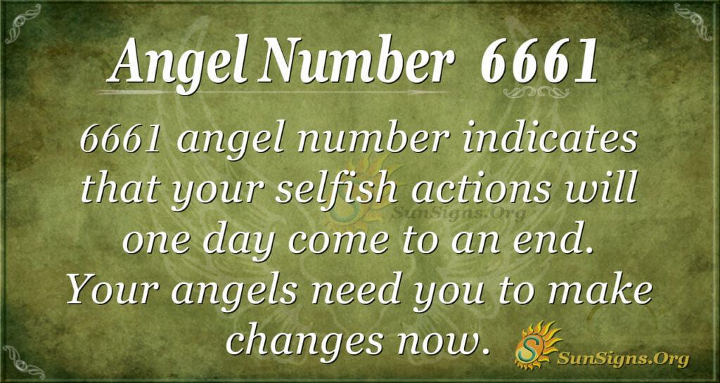 6661 angel number