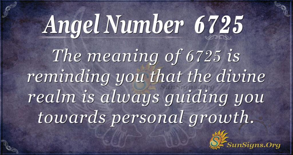 Angel Number 6725