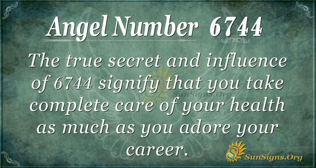 Angel number 6744