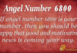 6800 angel number