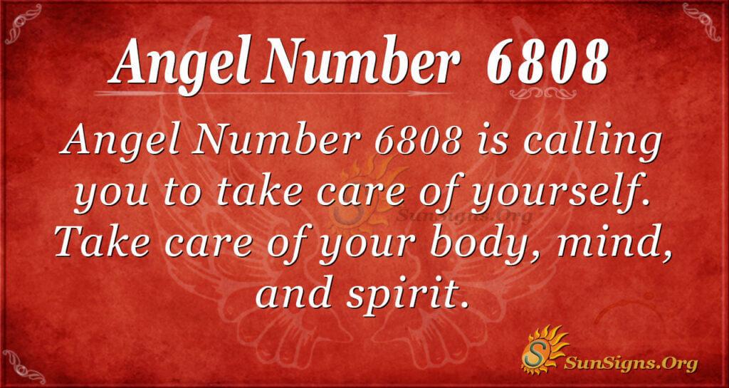 Angel Number 6808