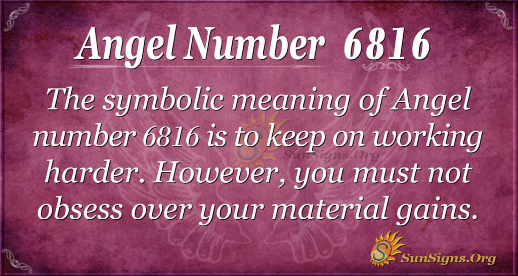 Angel number 6816