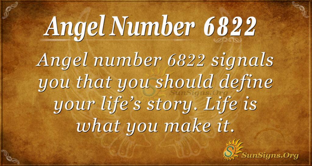 6822 angel number