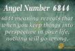 Angel number 6844