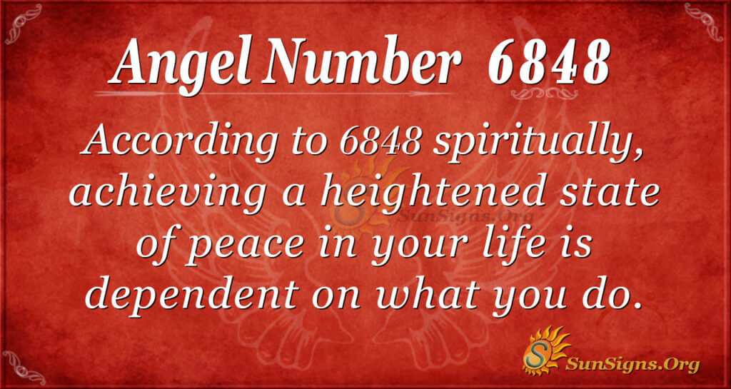 6848 angel number