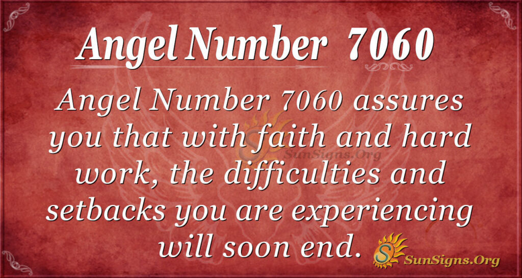 Angel Number 7060