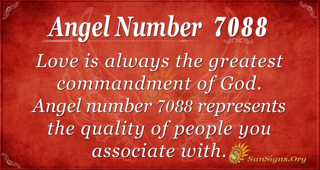 Angel number 7088