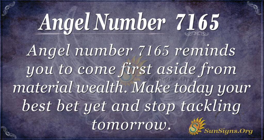 Angel number 7165