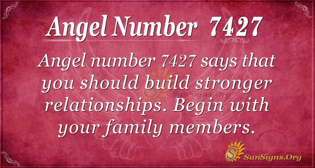 Angel number 7427