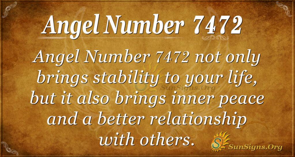 Angel number 7472