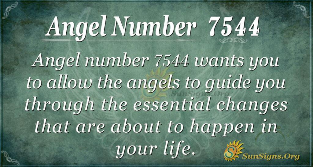 Angel number 7544