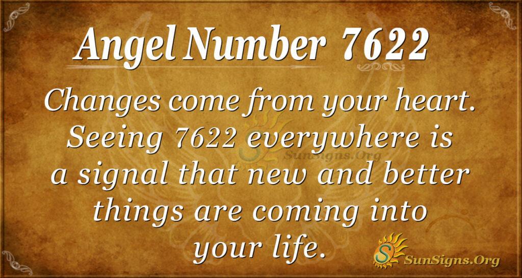 Angel number 7622