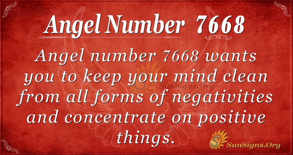 Angel number 7668