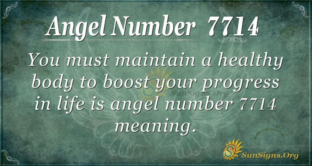 Angel Number 7714