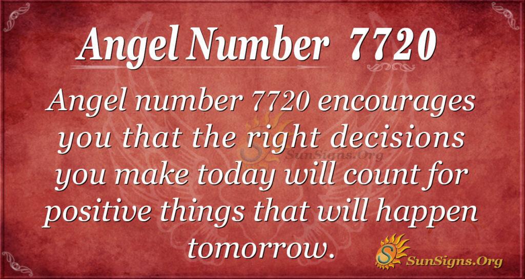 Angel number 7720